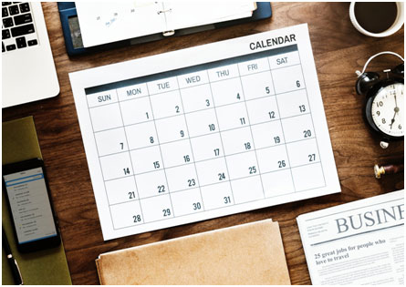 Monthly View of Calendar That Affect Bin Rental Prices